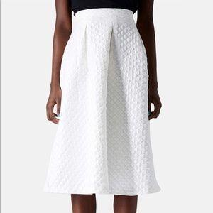 Topshop Diamond Jacquard A Line Midi Skirt